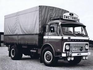 gammal lastbil, historik Granströms åkeri